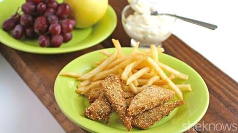 Vegetarian Tempeh Fish Sticks - This Popular Fried Fish Meal is Made Using Fermented Soy Beans