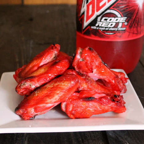 Soda-Coated Chicken Wings - These Homemade Wings Feature a Fiery Red Hue From Mountain Dew Code Red