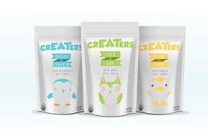 'CrEATers' is an Organic Snack Branded with Minimalist Packaging