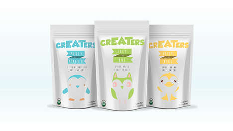 Organic Snack Bags - 'CrEATers' is an Organic Snack Branded with Minimalist Packaging