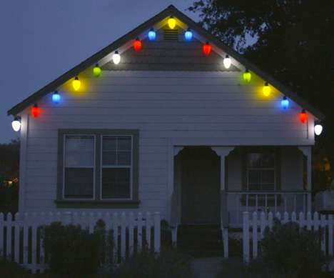 Gigantic Christmas Decorations - These Supersized Decorative Christmas Lights are a Foot Tall Each