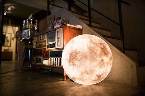 Luminous Lunar Lanterns - This Moon-Shaped Lamp is Designed to Brighten Any Space