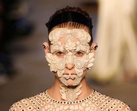Bejeweled Runway Masks