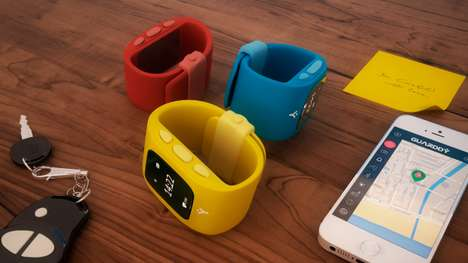 Protective GPS Watches - The 'Guarddy' is a GPS Tracking Device That Also Functions as a Watch