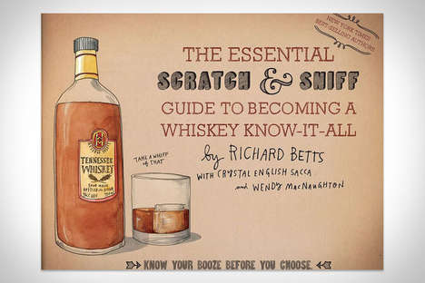 Interactive Whiskey-Scented Books - This Scratch and Sniff Book is a Guide to Liquor Through Smell