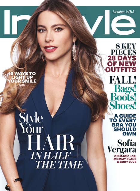 Comedic Siren Celebrity Covers - Sofia Vergara Shows Off Her Glamorous Side for InStyle Magazine