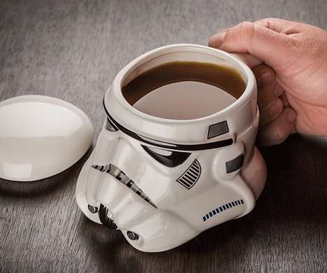Villainous Sci-Fi Mugs - The Stormtrooper Mug Lets Fans Sip Out of the Helmets of Darth Vader's Army