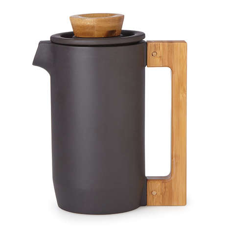 Naturalistic Coffee Makers - The Purple Clay Coffee Press Will Become Even Better With Use