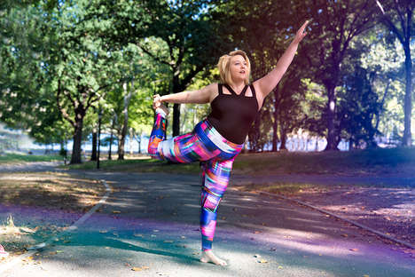Vibrant Plus-Size Activewear - This Clothing Line Features Bold and Colorful Leggings