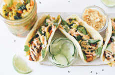 Vegetarian Tofu Tacos - This Meatless Taco Recipe Incorporates Black Sesame For a Fun Twist