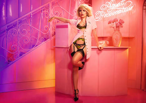 Sultry Staff Lookbooks - Agent Provocateur's Lingerie Newest Campaign Stars Former Employees