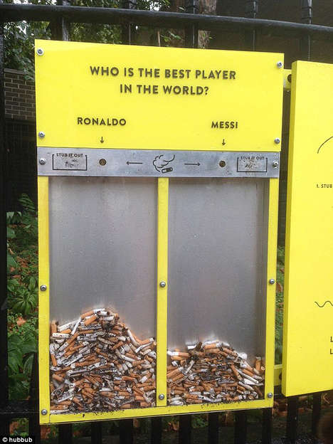 Interactive Litter Bins - This London Litter Campaign Uses Fun Games to Recycle Cigarettes and Gum