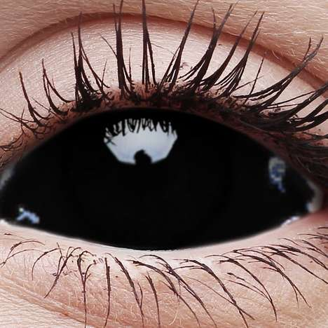 Spooky Black Contacts - These Eerie Blackout Contact Lenses are Perfect for Halloween