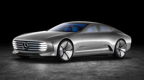 Sleek Transforming Supercars - The Mercedes IAA Concept Becomes More Aerodynamic to Suit Conditions