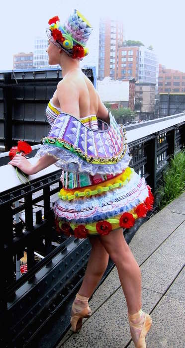 Exquisite Trash Fashions - Candy Carousel by Janet Lee & Lorraine Kwan is Upcycled and Unusual