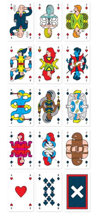 Superhero Card Decks - This Deck of Cards was Created Using X-Men Characters