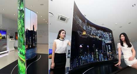 Double-Sided TV Screens - This New Television Set from LG Lets You Watch Two Shows at Once