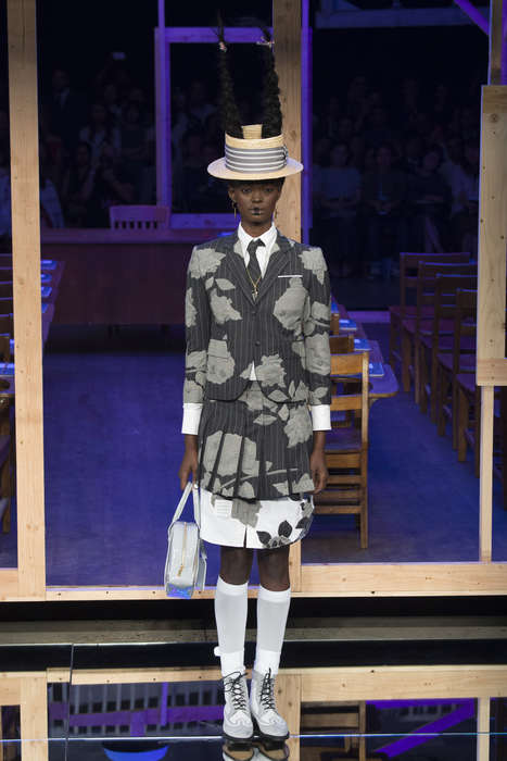 Japanese Schoolgirl Couture - The Thom Browne S/S Show Brought Grade A Style to New York Runways