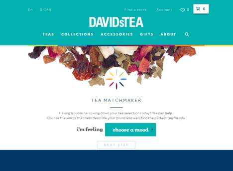 Mood-Based Tea Matchmakers - This David's Tea Tool Makes Suggestions Based on Mood, Flavor and More