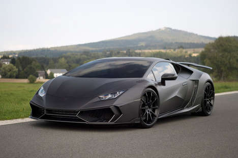 Sleek Graphite Cars - This Lamborghini Carbon Fiber Car is High-Tech Inside and Out