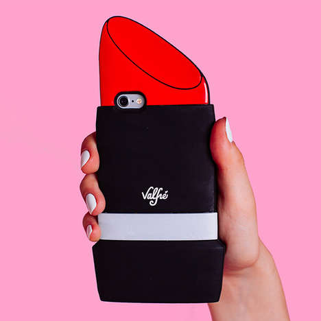 Lipstick Phone Protectors - This 3D Lipstick iPhone Case Keeps Your Phone Glam and Protected