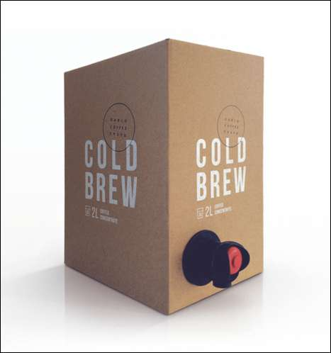 Boxed Coffee Concentrates - This Cold-Brew Coffee Box Makes Concentrate Available in Bulk