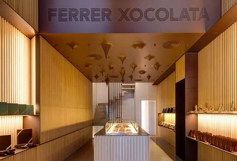 Melting Chocolate Ceilings - This Unique Chocolate Shop Feature a Candy-Coated Interior