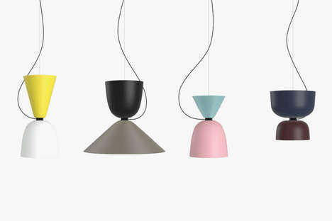 "Colorful Customizable Lamps - This Collection of ""Alphabeta"" Lamps Comes in Several Combinations"