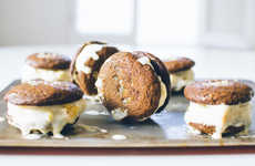 Autumnal Ice Cream Sandwiches - These Ginger Snap Treats Contain Coconut and Pineapple Ice Cream