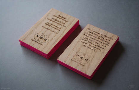 Wooden Business Cards - These Sleek Wooden Cards are Made Using Discarded Doors