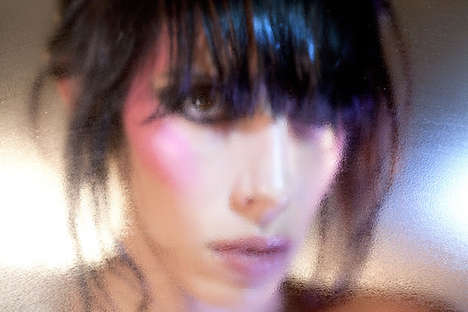 Blurred Beauty Photography - Purple Fashion's Jamie Bochert Editorial is Lensed Behind Shower Glass