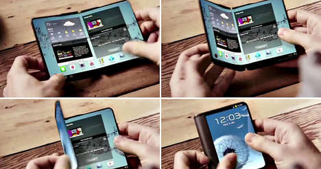 Revolutionary Flexible Phones - This Foldable Smartphone from Samsung Bends in Half Without Breaking