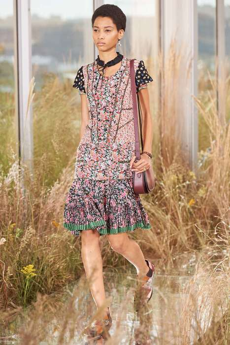 Ornamental Bohemian Fashion - The Coach S/S Collection Boasts Exaggerated Amounts of Floral Print