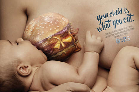 Healthy Pregnancy Diet Ads - These Posters Promote Healthy Diets for Pregnant & Breastfeeding Women