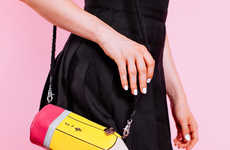Quirky Pencil Purses - This Pencil Purse is Shaped Like a Stationary Device