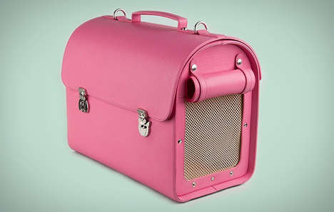 High Fashion Pet Carriers - The Pegasus Pet Carrier by Moshiqa is Crafted From Fine Leather