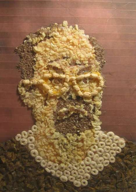Cereal-Made Portraits - This Artwork Shows the Faces of Serial Killers Made out of Breakfast Cereal