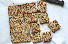 Healthy Sesame Squares - These Homemade Bars are Packed with Energizing Peanut Butter and Nuts
