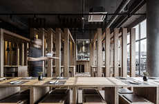Wooden Slatted Restaurants