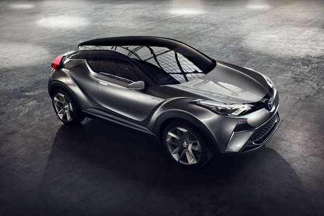 Compact Crossover SUVs - The Toyota 'C-HR Concept' is Inspired by a Diamond