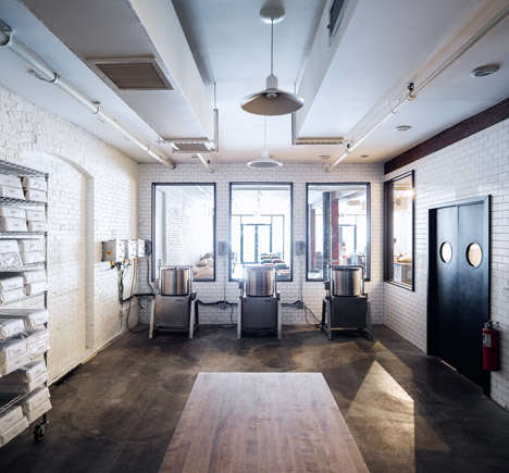 Stark Chocolate Shops - The Mast Brothers Chocolaterie is a Blank Canvas for Displays