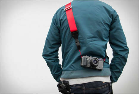 Magnetic Camera Straps - This Recycled Seat Belt Camera Strap Uses Magnets to Quicken Access