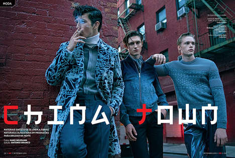 Cinematic Menswear Editorials - GQ Brazil's 'China Town' Photography Feature Embodies Urban Elegance