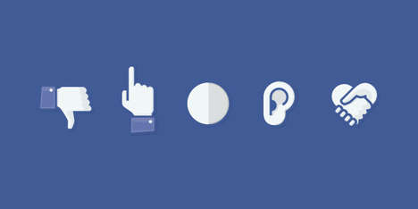 Alternative Social Media Buttons - These Icons May Better Describe People's Feelings on Facebook