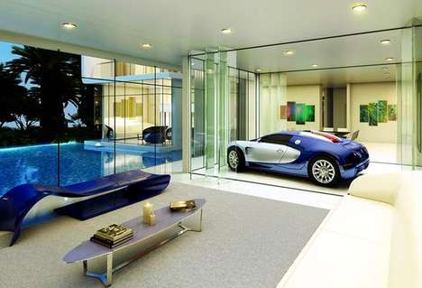 Luxury Car-Themed Houses - This $10 Million Home Mimicks the Sleek Elegance of a Luxury Bugatti Car