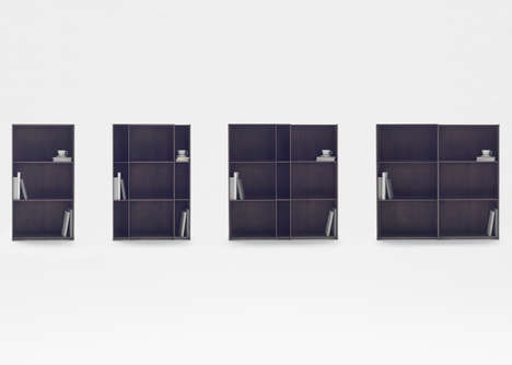 Expandable Sliding Shelves - This Adaptable Shelving Unit is Made Using Carbon Fibre Sheets