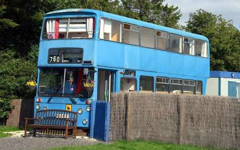 Double-Decker Holiday Homes - This Double-Decker Bus Has Been Made Over into a Cozy Country Retreat