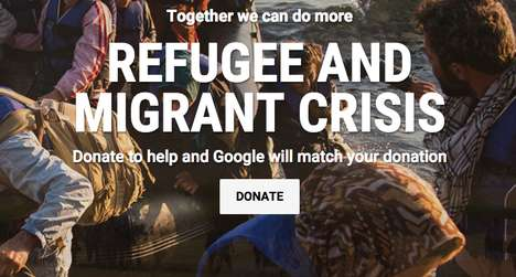 Easy-Access Donation Buttons - Google Added a 'Donate' Button to Help Aid in the Refugee Crisis
