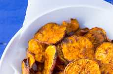 Smokey Homemade Potato Chips - These Baked Vegetable Chips are Sprinkled with BBQ Seasoning