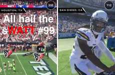 Photo-Sharing Football Apps - The NFL and Snapchat Have Teamed Up for an Enhanced Fan Experience